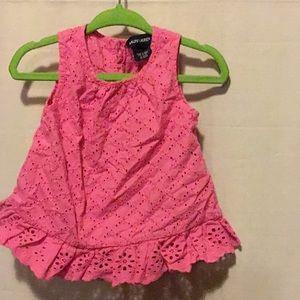 Pink Cotton Eyelet Dress